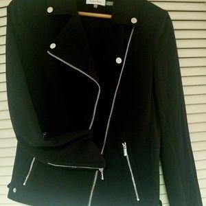 New calvin Klein black moto jacket 6 black M L